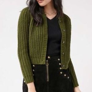 UNIF x Urban Outfitters UO Green Chloe Cardigan ✨